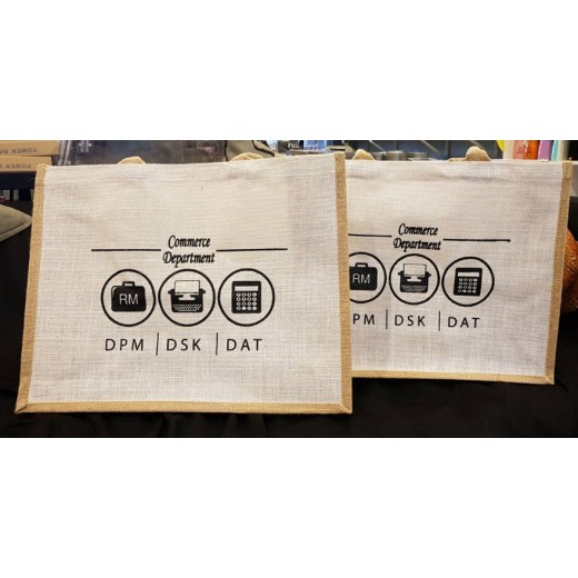 Carrier Jute Bag with Printing