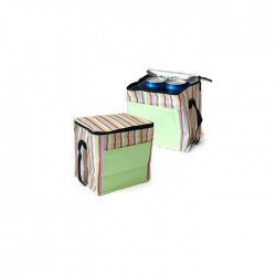 Striped Insulated Cooler Bag