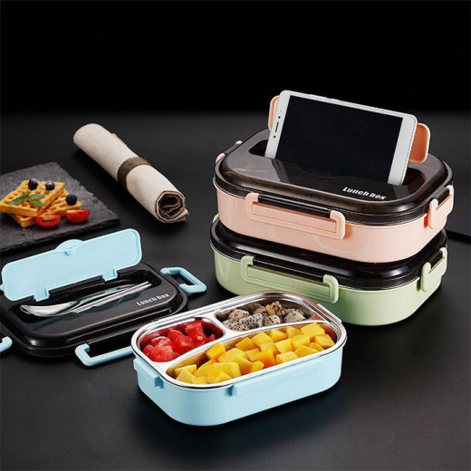 304 Stainless Steel Lunch Box with Cuterly Set