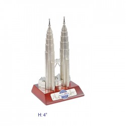 """4"""" KLCC with Wooden Base"""