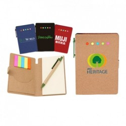Eco Sticky Notes Memo Pad with Paper Pen