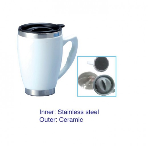 Ceramic Stainless Steel Mug