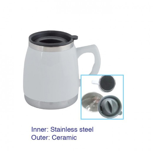 Fatty Ceramic Stainless Steel Mug