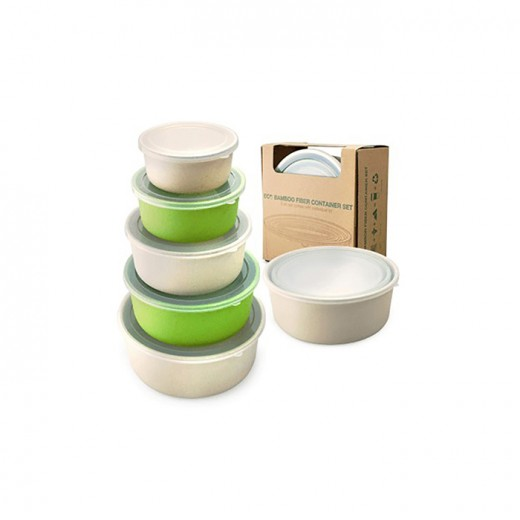 Bamboo Fiber Container Set