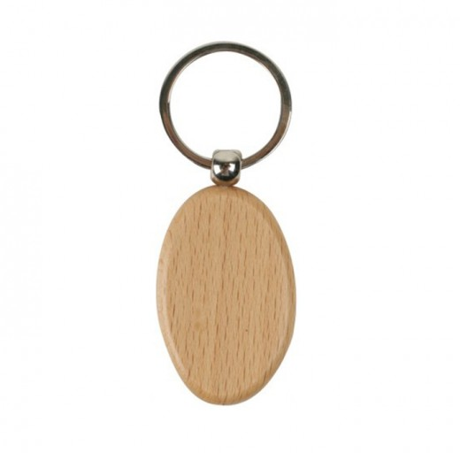 Wooden Oval Key Chain