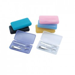 Plastic Box with Manicure Set