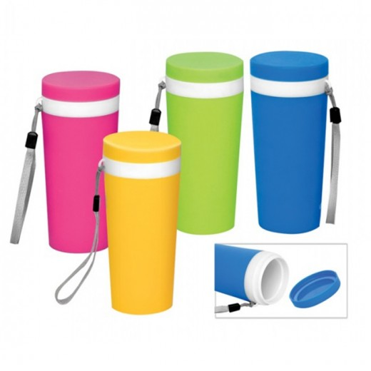 Plastic Bottle with Silver Strap - 500ml