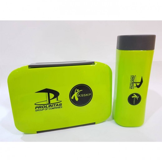 Prolintas & KSSKP Lunch Box with Bottle