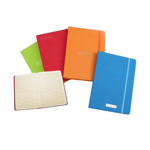 A5 Leather Feel PU Skin Notebook-Lines