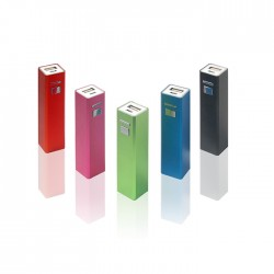 Square Shape  Portable Charger Metal Power Bank-2600mAh
