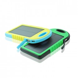 USB Waterproof Solar Portable Charger Power Bank-5000mAh