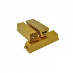 Gold Bar Portable Charger Power Bank-2000mAh