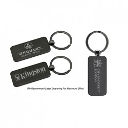 Double Sided Laserable Metal Key Holder