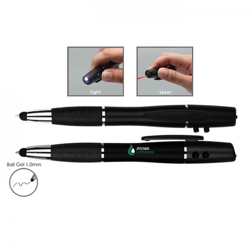 3 in 1 Stylus Ball Gel Plastic Pen