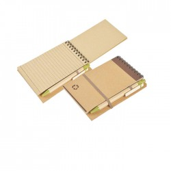 Minimalist Natural Friend Notepad with Clip On Pen