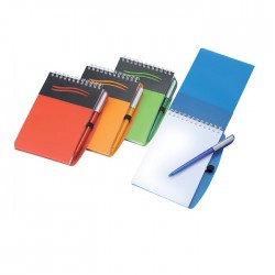 Travel Ring Bind Memo Pad with Pen