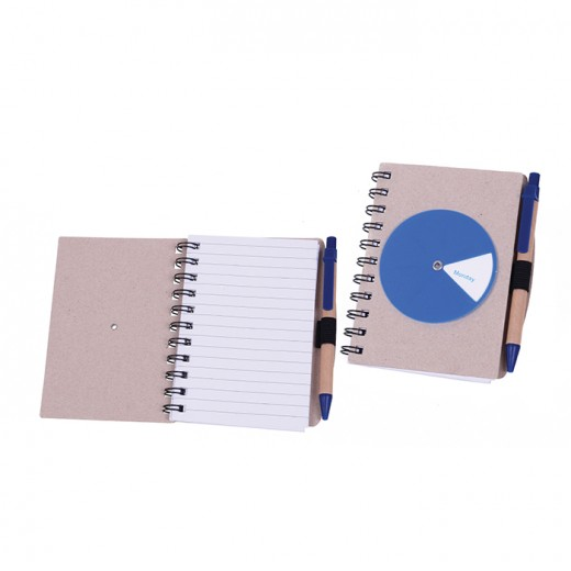 Notebook with Rotation Wheel Day Reminder