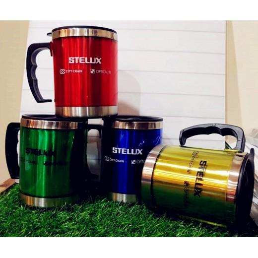 Color Mug With Lid With Logo Print